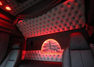 Rode verlichting scania cabine